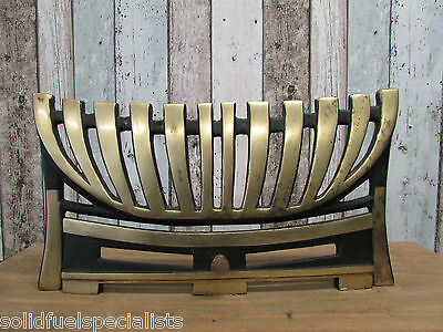 "16"" Black And Brass Fire Front Open Fire Front Or Gas Fire Front"