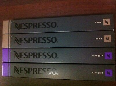 40 Nespresso Genuine Capsules Pods Arpeggio and Roma - SAVE $5 WHEN YOU BUY 2