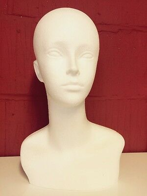 Polystyrene Female Dummy Mannequin Head Long For Hats,wigs, Display