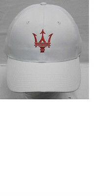 Maserati Trident Cap White/Red