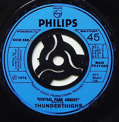 Thunderthighs - Central Park Arrest - 1974 PHILIPS (VG+)