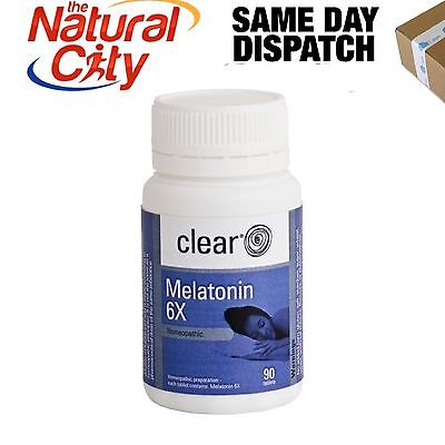 Clear Melatonin 6x 90tabs Homeopathic Sleep Aid- High Strength