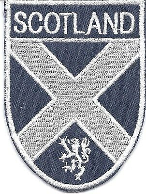 Scotland St.Andrew's Cross Flag Patch/Badge Iron/SewOn