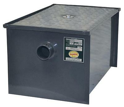 BK Carbon Steel Grease Trap, 100 Pound Capacity, 50 G.P.M.