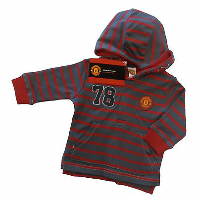 Manchester United, Man Utd Fc Baby Long Sleeved Hooded Top  Official Product