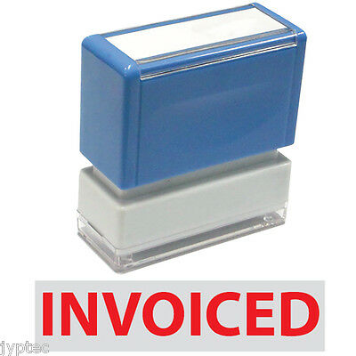 "JYP PA1040 Rectangle Stock Pre-Inked Rubber Stamp with ""Invoiced"""