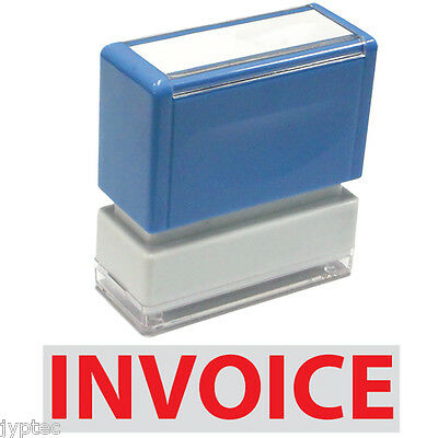"""JYP PA1040 Rectangle Stock Pre-Inked Rubber Stamp with """"Invoice"""""""