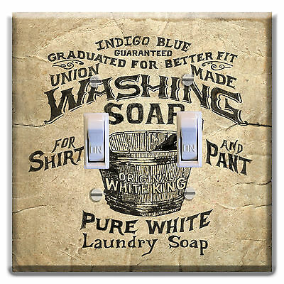 Laundry Room Wall Decor Light Switch Plate Cover soap