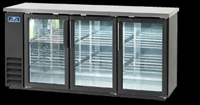 Arctic Air 3-Glass Door Backbar Cooler, NEW, Model ABB72G