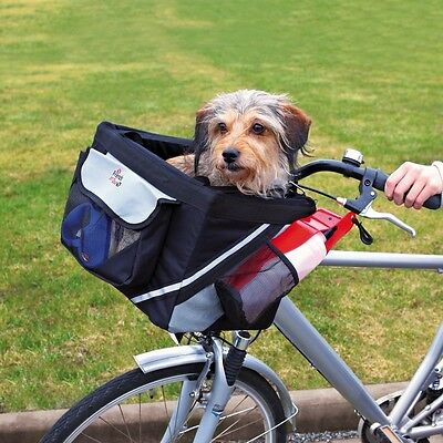 Pet Dog Bicycle Carrier Front Box with Reflective Stripes for Travel by TRIXIE