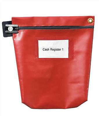 Versapak Cash Bag With Zip Medium Red CCB1-RDS  For Use With Security Seals