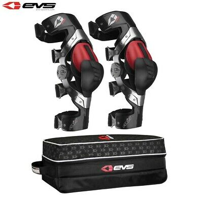EVS Axis Pro Knee Brace Aluminum / Carbon Pair Motocross MX Enduro Protection