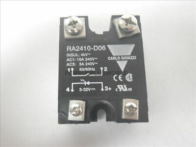 RA2410-D06 RA2410D06 Carlo Gavazzi Solid State Relay (Used and Tested)