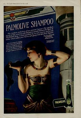 1918 Palmolive Soap Ad / Exquisite Scene With Cleopatra - Rare.....must See!!!