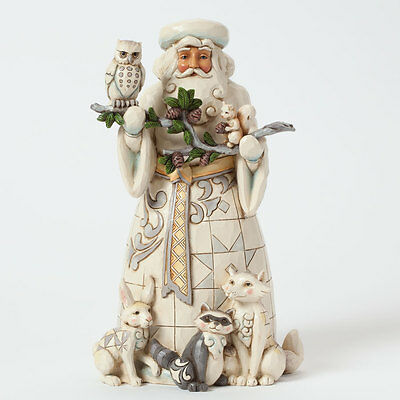JIM SHORE HEARTWOOD CREEK 4040900 Nature's Woodland Wonder - Woodland Santa with