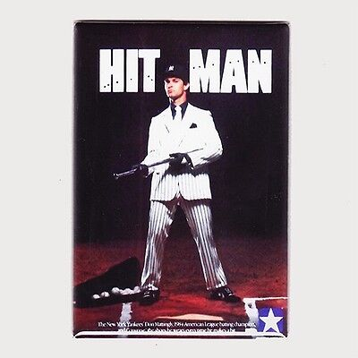 "DON MATTINGLY / HIT MAN - 2"" x 3"" POSTER FRIDGE MAGNET converse yankees costacos"