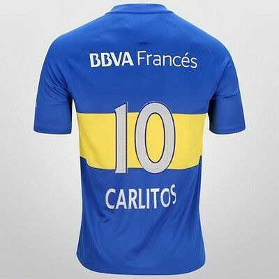 2016 Boca Juniors Carlos Tevez Home Football Shirt Argentina Jersey Original