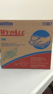 (10) Wypall X60 Wipers, 11807,1500 Wipers Per Case NEW, FREE SHIPPING, @PA@