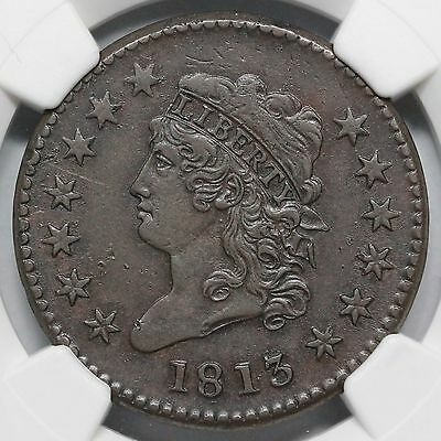 1813 S-293 R-2 NGC AU 50 Classic Head Large Cent Coin 1c