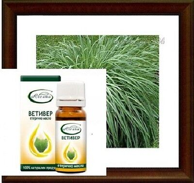 VETIVER Essential Oil 100% Pure & Natural for aging skin RIVANA, FREE DELIVERY