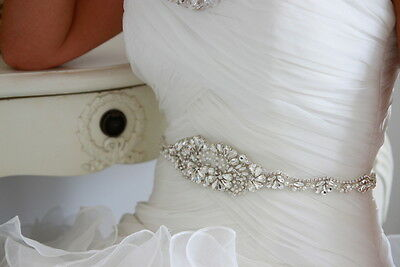Honey Bridal Sash, Bridal Belt, Vintage, Wedding Dress Sash, Crystal Pearl