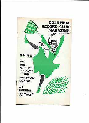 Columbia Record Club Magazine Vol 16 No 4 Anne of Green Gables