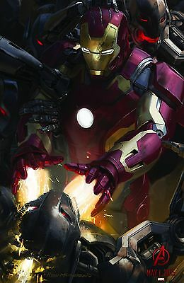 "179 Age of Ultron Iron Man Captain America Hulk Movie 38/""x24/"" Poster"