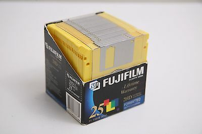 25 Sealed Formatted IBM Fujifilm 2HD 3.5'' Colored Floppy Disks