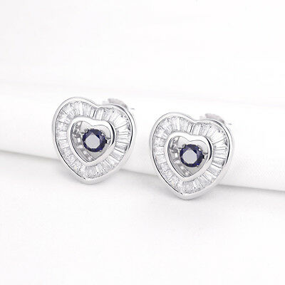 New Round Cut 925 Sterling Silver White Sapphire Leverback Drop Dangle Earrings