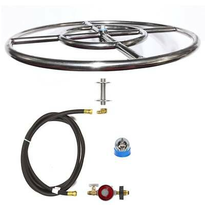 "FR_CK 6"", 12"", 18"" or 24"" Complete Basic Wood to Propane Fire Pit Conversion Kit"