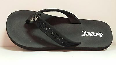 147fabc248e64 WOMEN S REEF SEASIDE Flip Flop Sandal Black Black 1585 -  24.99 ...