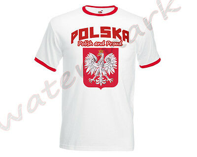 Poland Football Team POLISH AND PROUD T-Shirt Euro 2016 Supporters Men Polska