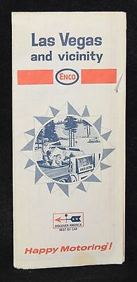 Enco Oil Gasoline Company Vintage Road Map Las Vegas and Vicinity