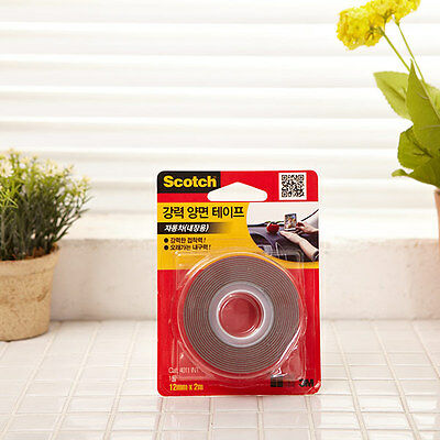 3M Scotch Strong Double Sided Mounting Tape 12mm x 2m / Vehicles Car Interior