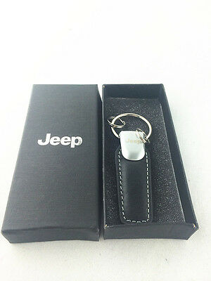 JEEP car logo key ring  GENUINE leather  Car Key Chain