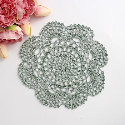 Crochet doily in Green 20 - 22 cm for millinery , hair and crafts