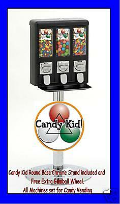 Summer SPECIAL Candy Kid Triple Vending Machines - THIS LISTING IS FOR 24 UNITS