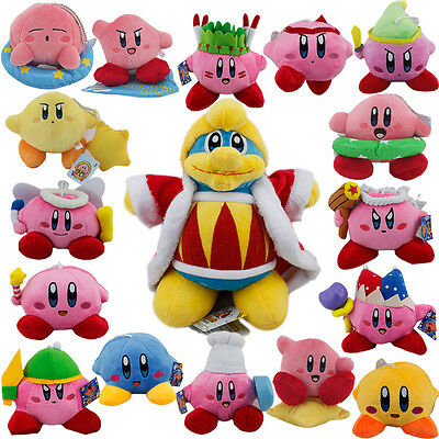 Kirby DDD King Knight  Sword Fay Angell Wing Beam Cook etc. Plush Toy Selectable