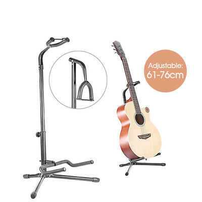 New Folding Electric Acoustic Bass Tripod Guitar Padded Stand Floor Rack Holder