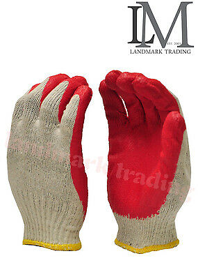 WHOLESALE 300 Pairs Red Latex Rubber Palm Coated Work GIoves