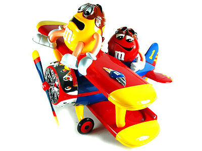 M&M FLUGZEUG RED & YELLOW, Barnstorming Rides Spender, Mars, RAR