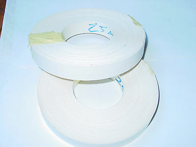 Iron on Edging-Pre-Glued-Plastic-Melamine,Edge Band tape, 22mm white 25 meters