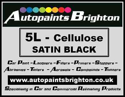 Black Car Paint Cellulose SATIN 5L