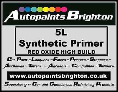 Red Oxide High Build Synthetic Primer 5 Litres