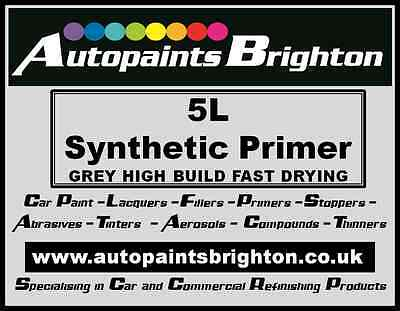 Synthetic High Build Primer Filler Grey 5L Autopaints