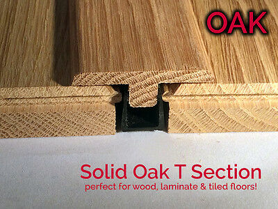 Real Solid Oak T Section For Wood Floors Threshold Door Bar profile Trims Strip