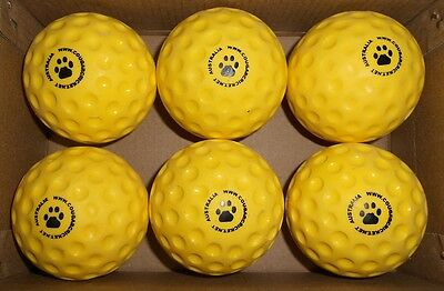 24x Yellow Cougar  Bowling Machine Cricket Balls - NEW