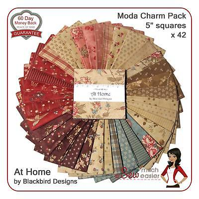 Moda At Home Charm Pack Square Quilting Fabric vintage folk-art floral civil war