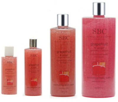 SBC Grapefruit & Ginger Exfoliating Body Wash, skin-smoothing Bath & Shower Gel
