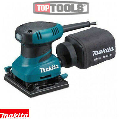 Makita BO4555 Palm Sander Hook and Loop with Dust Bag 240V